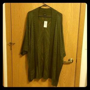 NWT Torrid Olive Green Knit Cardigan